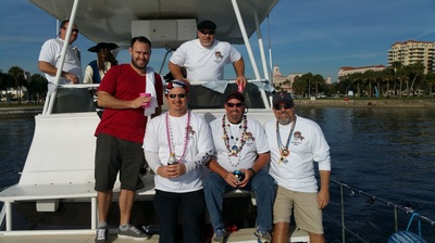 Charter a yacht for Gasparilla